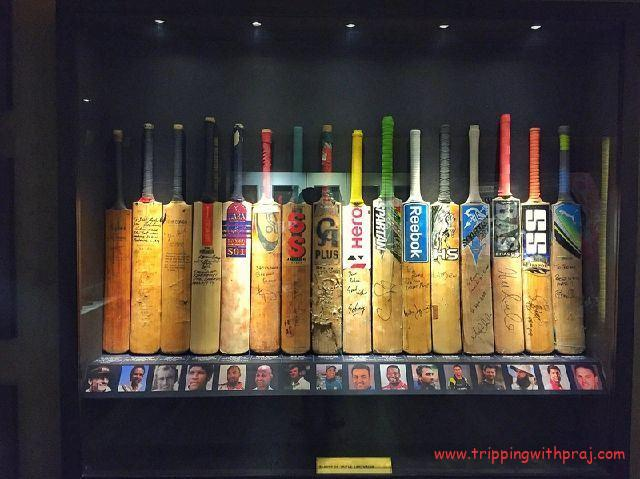 Places to visit in Pune - Blades of Glory Museum - Self Autographed Bats of World Class Batsmen