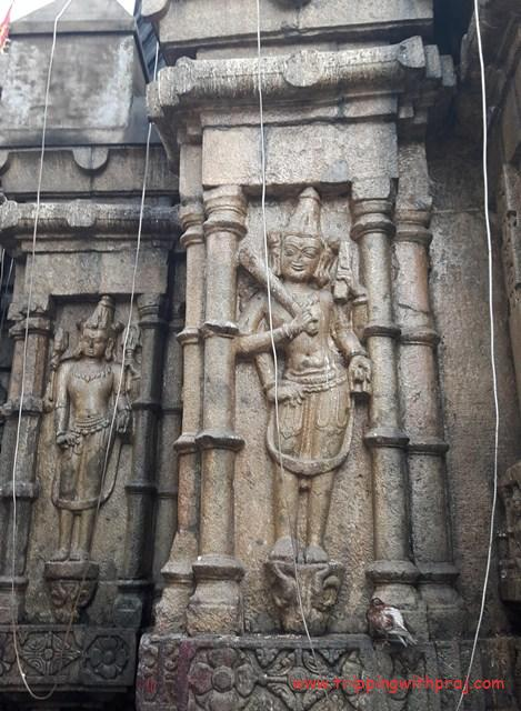 A day in Guwahati - Intricate carvings on the outer walls of the temple