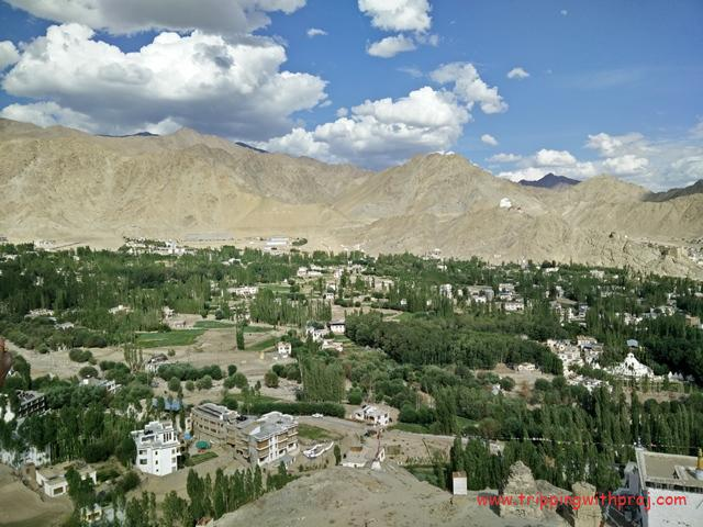 Breathtaking view of the Leh Airport and Valley from Spituk Monastery