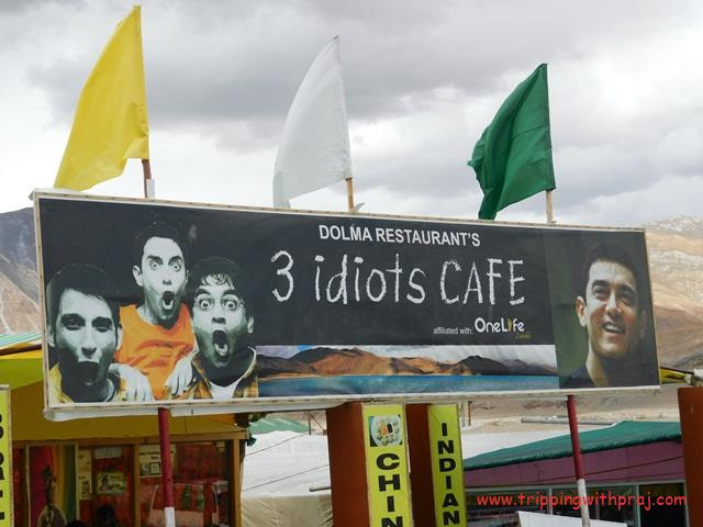 A cafe named after the Movie 3 Idiots