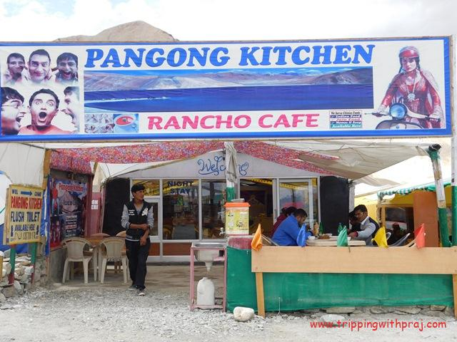 Ladakh Travel Guide - Another restaurant with the 3 Idiots