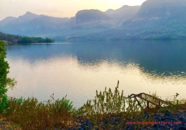 A view of the Blissful Bhira Dam at the end of Andharban Night Trek