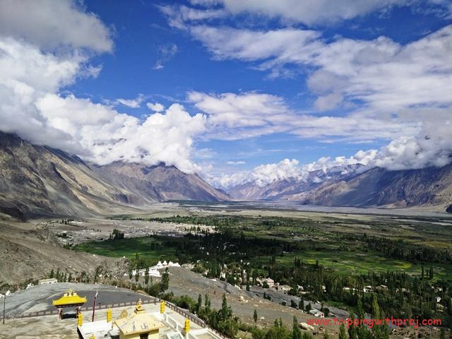 Mind-boggling view of the Siachen Glaciers from Diskit Monastery