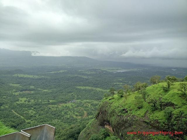 View of widespread Greenery from Tamhini Ghat