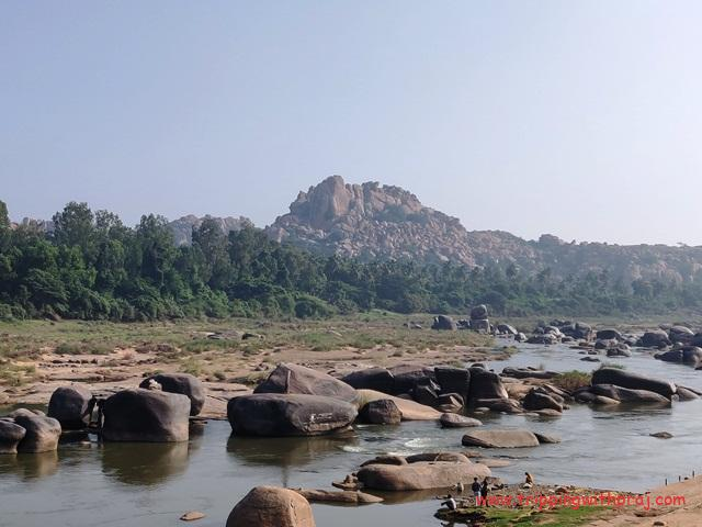 Places to visit in Hampi - View of the Tungabhadra River Boat Point