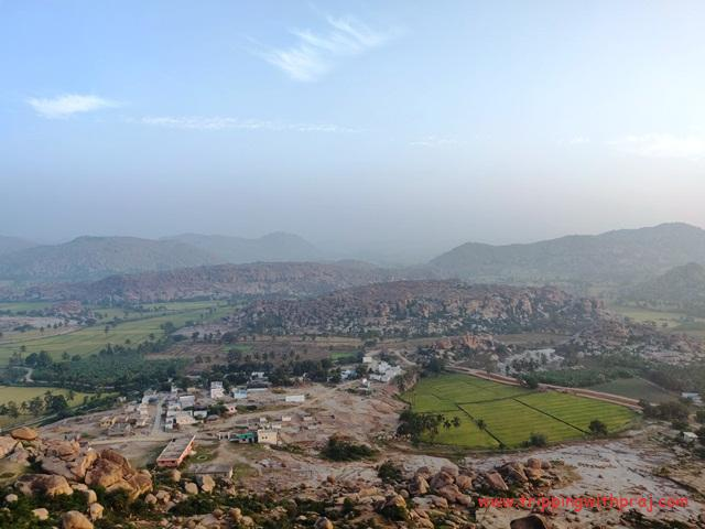 View of the Hippie Island from Anjanadri Hill