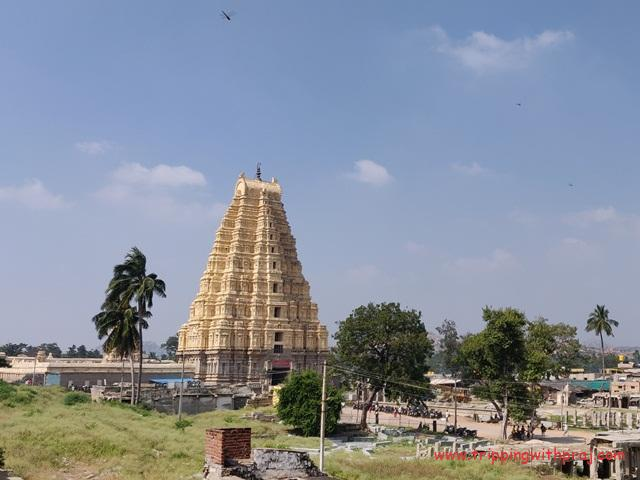 View of the Virupaksha Temple from Guesthouse