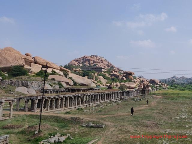 Market Opposite to Krishna Temple - Hampi