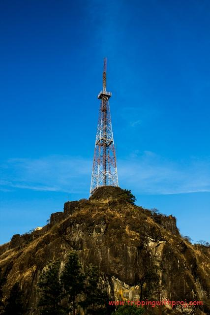 Places to visit in Pune - TV Transmission Tower atop Sinhagad