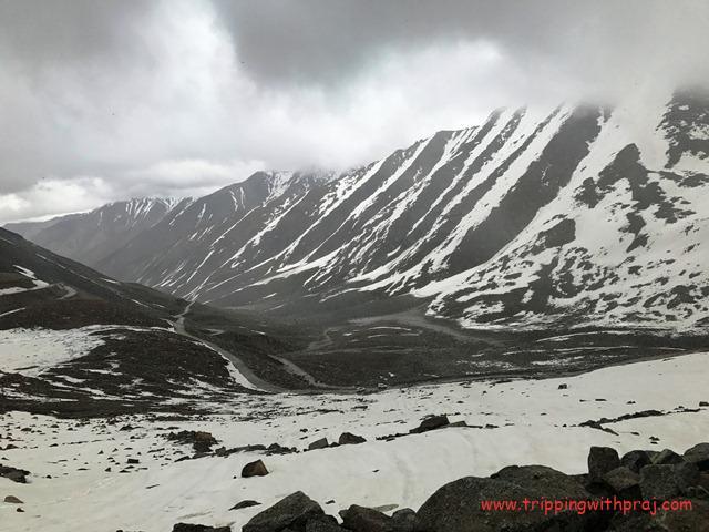 Snow Clad mountain peaks