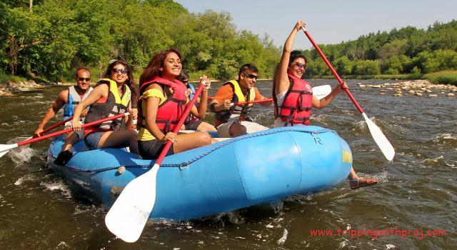 Kolad River Rafting - Race to the finish line