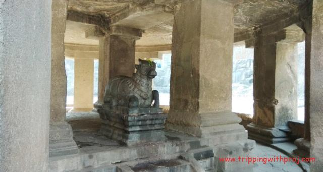 Nandi at the Pataleshwar Cave Temple