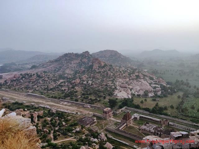 Bird's Eye View of Hampi from Matanga Hill