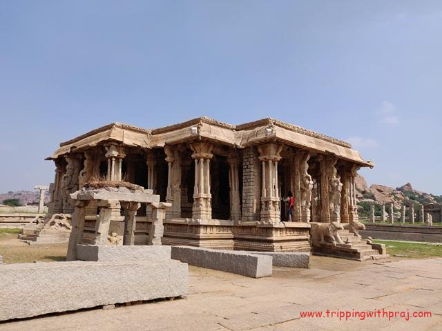 Places to visit in Hampi - Pooja Mandap - Vijaya Vittala Temple
