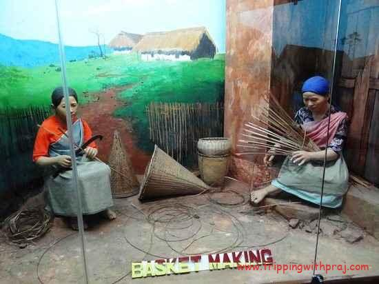 Depiction of Women making Baskets