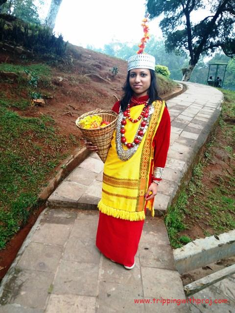 A click in Khasi Attire