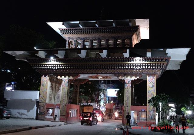 Bhutan Gate - Point of Entry to Phuentsholing